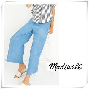 Madewell Huston Chambray Wild leg Crop Pants